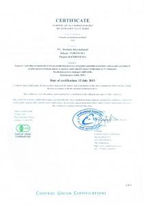 Organic Certificate 2013_0001